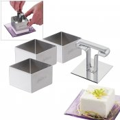 Lot de 3 carr�s � mousses 6 cm professionnels + poussoir
