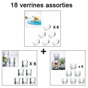 Verrine, 9 cl, 5cl, 18 pieces, Bubble, Honey, Kube