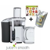 Centrifugeuse digitale inox Juice n'smooth, 2 disques + Pur�e de fruits aux fruits de la passion Capfruit OFFERTE