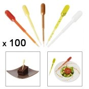 Pipette de decoration, petit modele, 8,5 cm, 100 pieces
