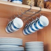 Rack � tasses suspension facile pour 10 tasses
