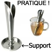 Infuseur a the inox, avec support