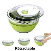Essoreuse et passoire accessoires cuisine kookit - Essoreuse a salade retractable ...