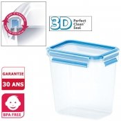 Bo�te herm�tique rectangle Clip and Close 3D, 1,6 L, sp�ciale farine