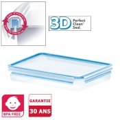 Bo�te herm�tique rectangle Clip and Close 3D, 2,6 L