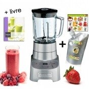 Blender base m�tal, 2 L, Collection Elite + Pur�e de fruits aux fruits de la passion Capfruit OFFERTE