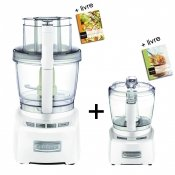 Robot multifonctions blanc brillant, 3,3 L, Elite + Mini pr�parateur base m�tal blanc brillant � 9.99 �