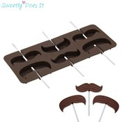 Moule à sucette silicone Moustache Sweetly Does It