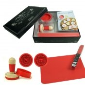 Coffret Biscuits gourmands 2 tampons + tapis