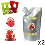 Pur�e de fruits aux fruits de la passion Capfruit, 2 pi�ces