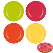 Assiette mélamine Hot Summer x4