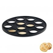 Moule 12 blinis silicone noir