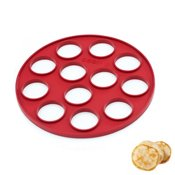 Moule 12 blinis silicone rouge