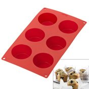 Plaque silicone 6 muffins Gourmet