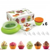 Kit Cupcake Décomax + 6 moules silicone