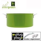 Casserole c�ramique Evergreen Plug and Play 18 cm