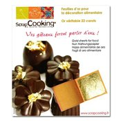 Feuilles d'or alimentaire x5