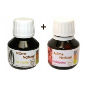 Arome naturel, vanille, framboise, 50 ml