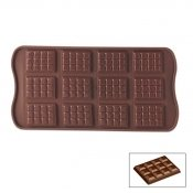 Moule silicone 12 chocolats Tablette