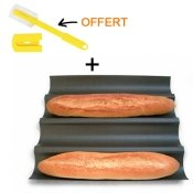Moule � baguette, antiadh�rent + Incisette OFFERTE