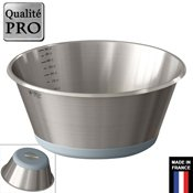 Bassine conique graduée fond silicone 28cm