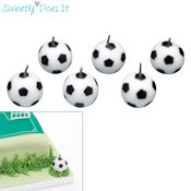 Bougie anniversaire Ballon football x6 Sweetly Does It
