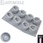 Moule silicone Elastomoule 8 cylindres escaliers