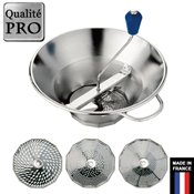 Moulin inox 3 grilles professionnel n°3