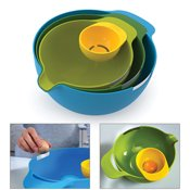 Set de 3 bols emboitables + séparateur d'oeuf Nest Mix