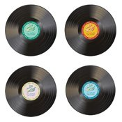 Set de table disque vinyle American Diner x4