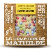 Tablette chocolat blanc Surprise Partie