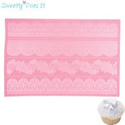 Tapis silicone dentelle en sucre Sweetly Does It Bordure