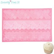 Tapis silicone dentelle en sucre Sweetly Does It Fleur