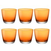 Verre Modus Domus Pebble 32cl Orange x6