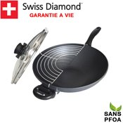 Wok 32 cm induction Swiss Diamond