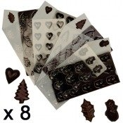 Moule silicone, 12 chocolat de noel, 8 pieces