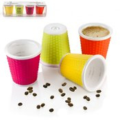Tasse nid d'abeille 10cl Light x4