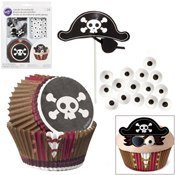 Kit caissette cupcake Pirate x24