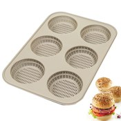 Moule Burger silicone perforé x6
