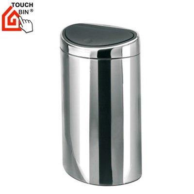poubelle touch bin demi lune 40 litres inox brillant. Black Bedroom Furniture Sets. Home Design Ideas