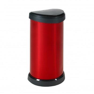 poubelle de cuisine rouge 176459 poubelle 40 l aspect m. Black Bedroom Furniture Sets. Home Design Ideas