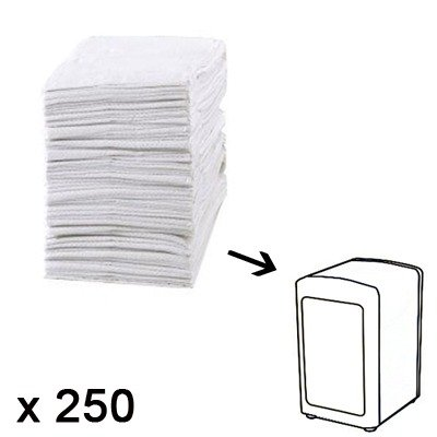 recharge serviettes en papier x 250 - derrière la porte - kookit