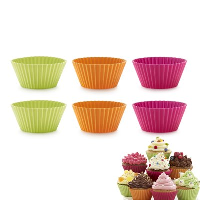 Moule à cupcakes & muffins silicone x6