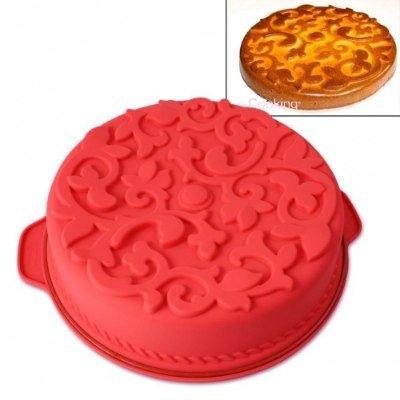 Moule à gâteau rond avec motifs entrelacés silicone