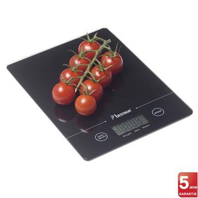 Balance de cuisine aquatronic 5 kg noir bestron kookit - Balance de cuisine 10 kg ...