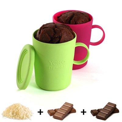 Coffret Mug Cake Silicone Yoko Design Kookit
