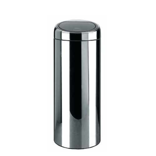 poubelle touch bin 30 litres inox brillant brabantia poubelle sacs poubelle tri selectif. Black Bedroom Furniture Sets. Home Design Ideas