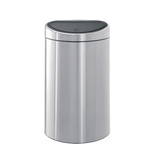 poubelle touch bin demi lune 40 litres inox matt brabantia poubelle sacs poubelle tri. Black Bedroom Furniture Sets. Home Design Ideas