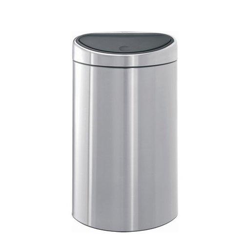 poubelle touch bin demi lune 40 litres inox matt. Black Bedroom Furniture Sets. Home Design Ideas