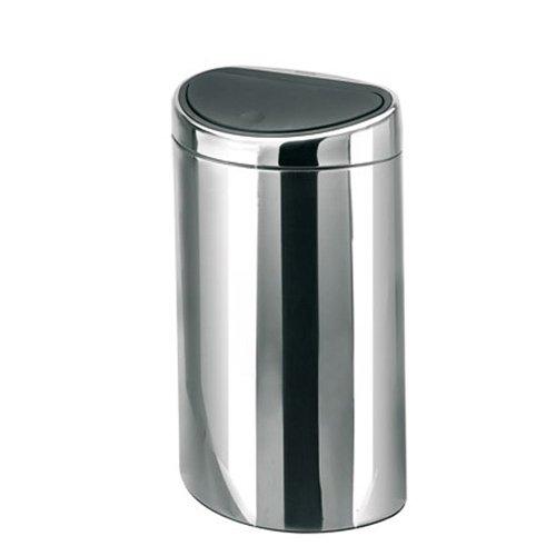 poubelle touch bin demi lune 40 litres inox brillant brabantia poubelle sacs poubelle tri. Black Bedroom Furniture Sets. Home Design Ideas